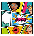 comic strip pop art design vector image