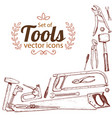 corner frame of repair tools icons vector image vector image
