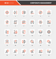 corporate management flat line web icon concepts vector image vector image
