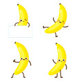 cute happy yellow banana character set