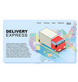 delivery express concept vector image