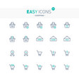 easy icons 32e shopping vector image