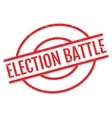 Election Battle rubber stamp vector image vector image
