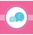 elephant bagreeting card vector image vector image