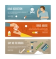 Flat Drugs Banner Set vector image vector image
