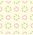 floral seamless pattern with geometric flower vector image