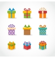 Gift box colorful icons vector image vector image