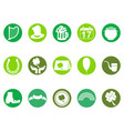 green round st patricks day button icons set vector image vector image