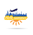 hallo summer with historic monument vector image vector image