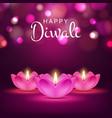 happy diwali poster indian lights festival vector image