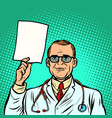 help information male doctor medicine and health vector image