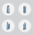 isometric skyscraper set of building skyscraper vector image vector image