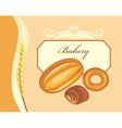 Label for bakery shop design vector image