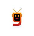 letter y robotic creative modern logo vector image vector image