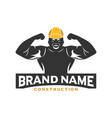 logo design construction workers vector image