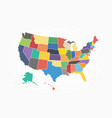 map united state america flat color design vector image