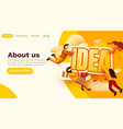 modern banner template with tiny people and idea vector image vector image