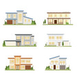 modern style house collection on white background vector image vector image