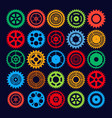 multicolor gear set vector image vector image