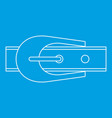 narrow belt with buckle icon outline style vector image