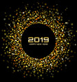 new year 2019 gold card background vector image vector image