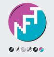 nft- non-fungible token can represent digital vector image vector image