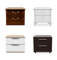 nightstand icon set realistic style vector image vector image