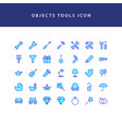 object tool filled outline icon set vector image vector image