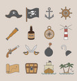 pirate icon vector image vector image