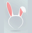 rabbit mask vector image vector image