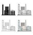 refineryoil single icon in cartoon style vector image vector image