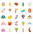 religious holiday icons set cartoon style vector image