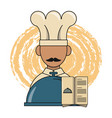 restaurant chef and dinner design vector image