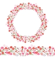 Round garland and seamless pattern brush with vector image vector image