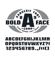Sanserif font with hand drawn soft shape vector image vector image
