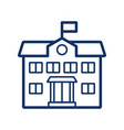 school building icon on white background vector image vector image