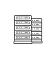 server racks hand drawn outline doodle icon vector image