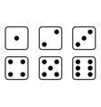 set dice icon traditional die with six faces vector image