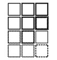 set of square label borders simply shapes in vector image