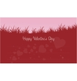 Silhouette of grass valentine theme vector image vector image