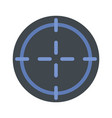 sniper target icon flat style vector image vector image