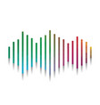sound waves icon colorful icon with vector image vector image