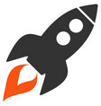 space rocket launch flat icon vector image vector image