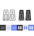 speaker simple black line icon vector image