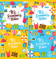 summer lettering posters vector image vector image