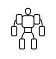 Symbol of Exoskeleton Thin line Icon of Future vector image vector image
