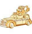 Taxi driver man vector image vector image