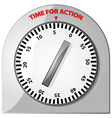 time for action vector image
