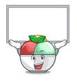 up board sorbet ice cream in cup cartoon vector image vector image