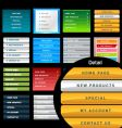 Vertical web menus vector image